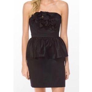 Lilly Pulitzer Mae Dress Strapless Ruffle Peplum 6